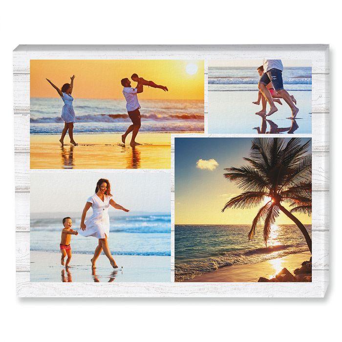 Light Wood Collage Photo Canvas