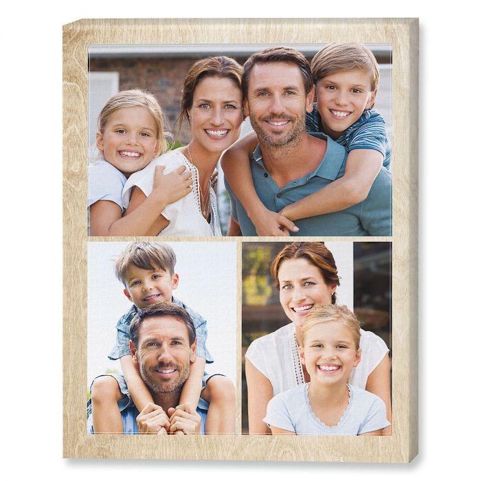 Midtone Wood Collage Photo Canvas