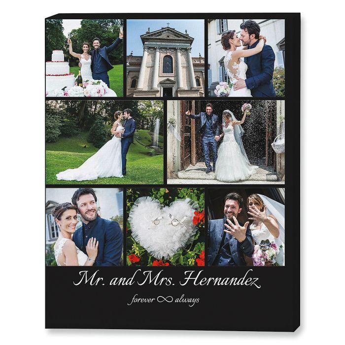 Mr. & Mrs. Collage Photo Canvas