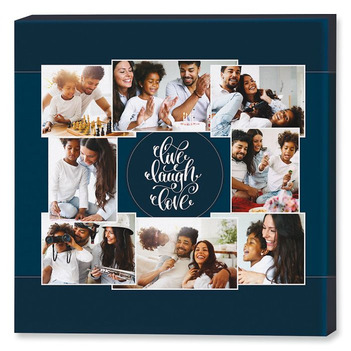 Live Laugh Love Collage Photo Canvas