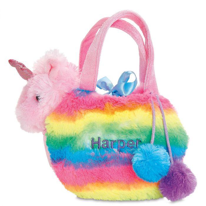 Personalized Rainbow Unicorn Pet Carrier