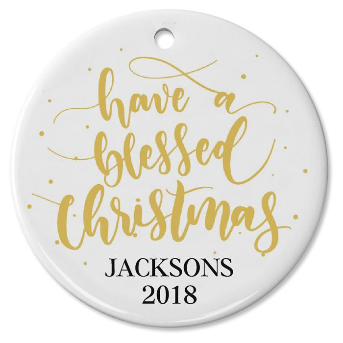 Blessed Christmas Personalized Ornament