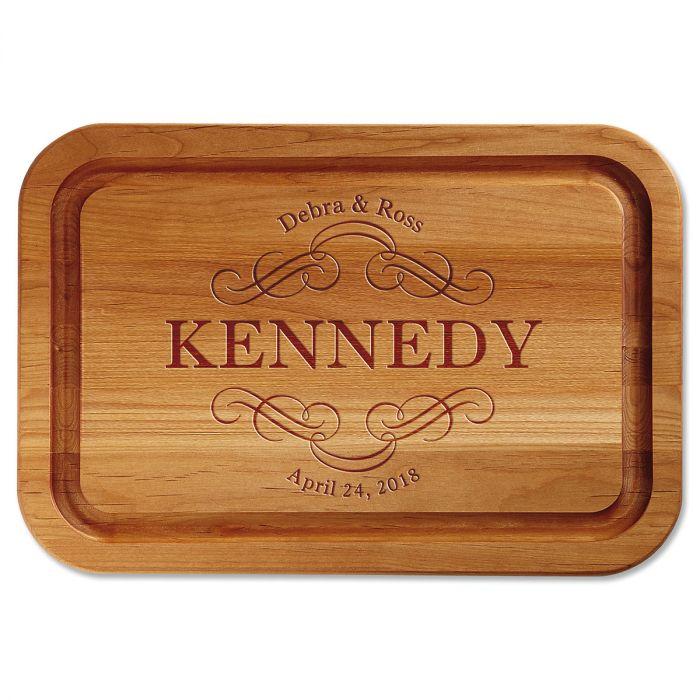 Personalized Scroll Wood Cutting Board