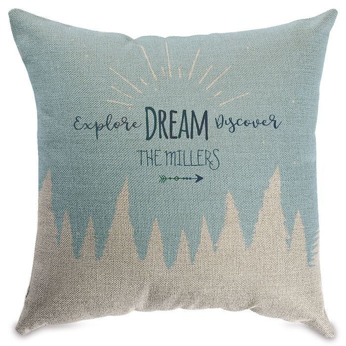 Explore Dream Personalized Pillow Natural