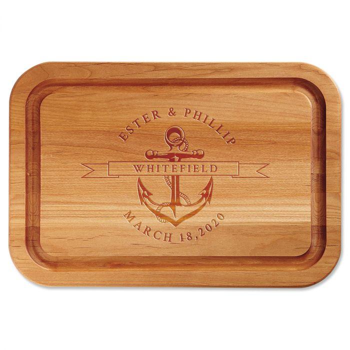 Alder Anchor Personalized Wood Cutting Board