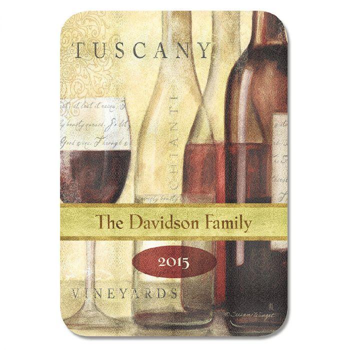 Personalized Wine Bottles Cutting Board