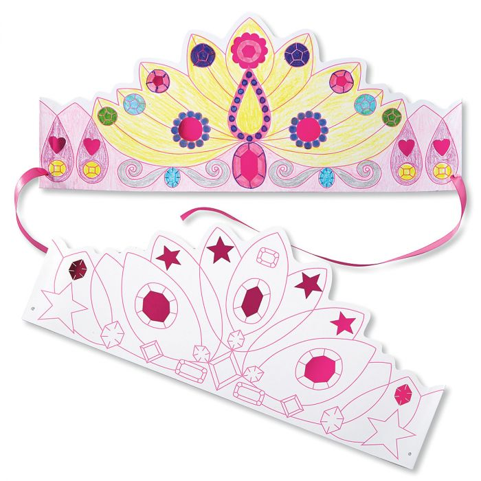 Princess Crowns Color-In-Hats