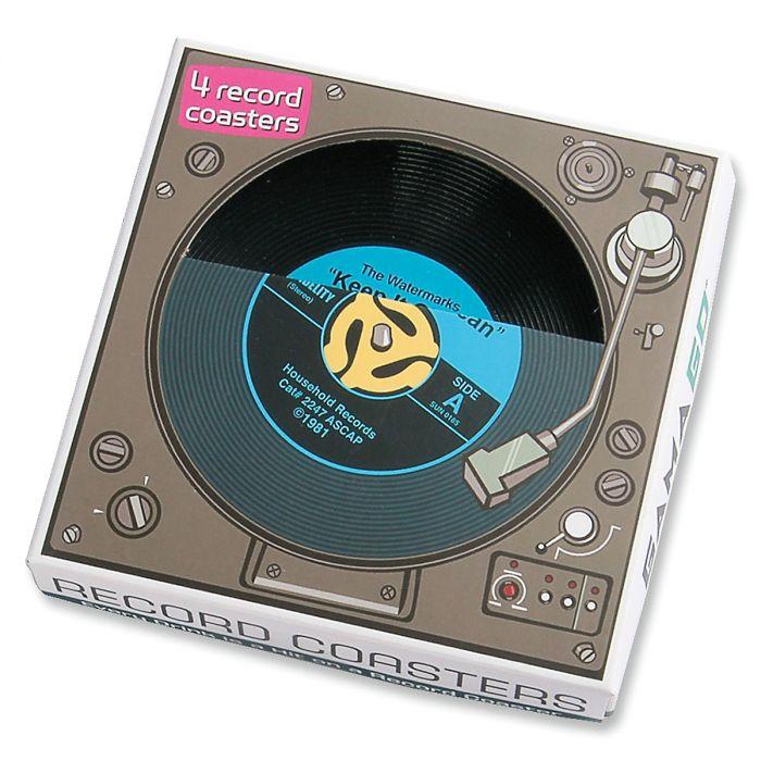 Retro Record Coasters