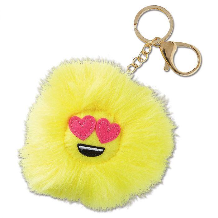 Heart Eyes Emojicon Keychain