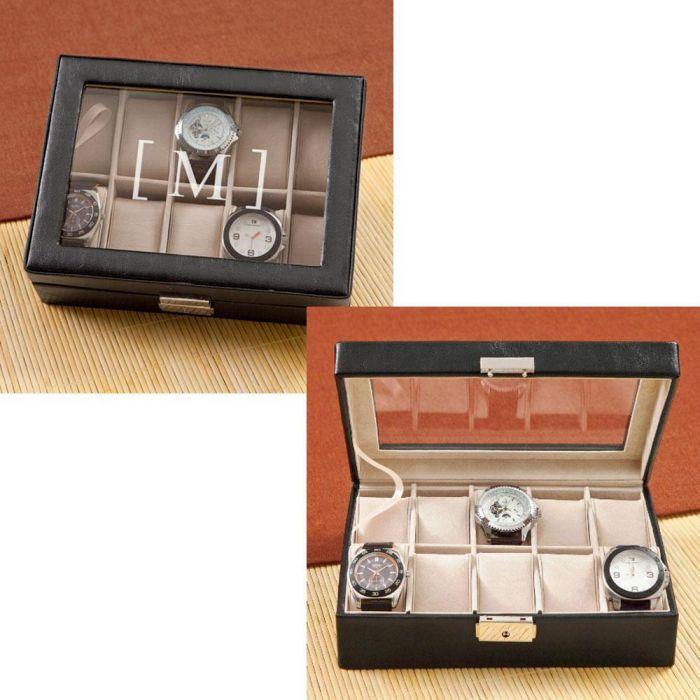 Monogrammed Watch Box