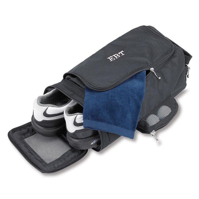 Personalized Black Golf Shoe Bag