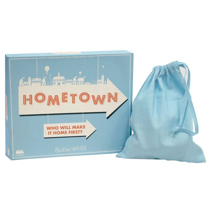 Personalized Hometown Map Puzzle Game