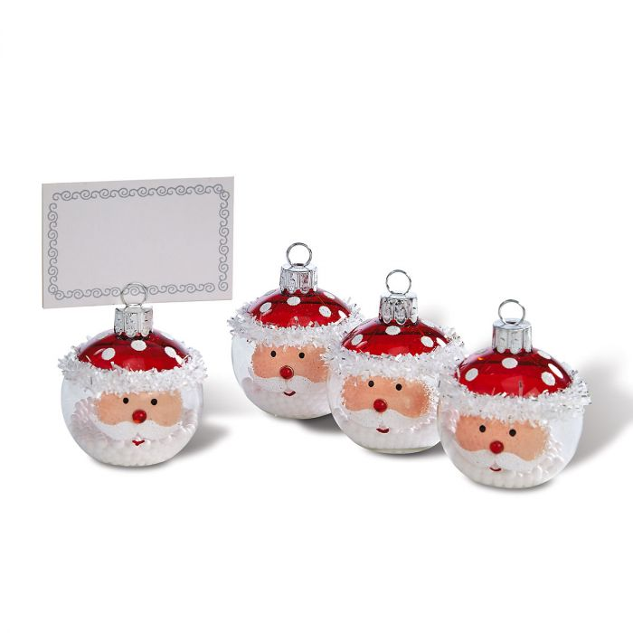 Santa Place Card Holders Personalized Ornaments