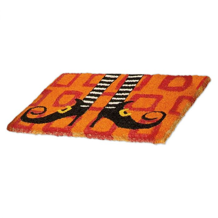 Wicked Witch Shoes Halloween Personalized Doormat