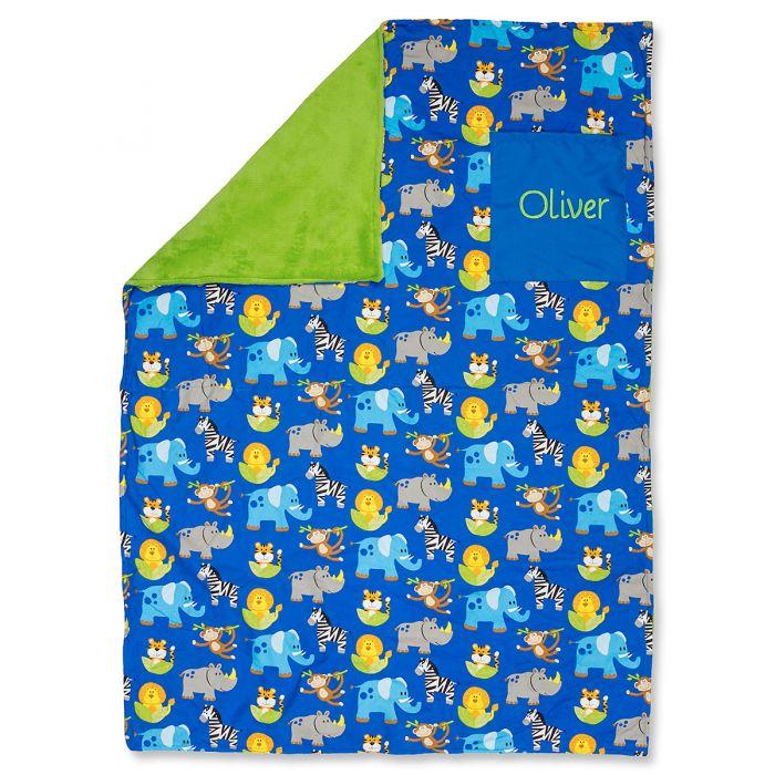 Stephen Joseph® Personalized Toddler-Size Zoo Blanket