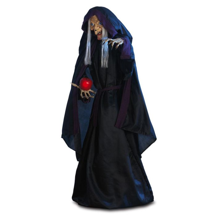 Standing Witch With LED Apple