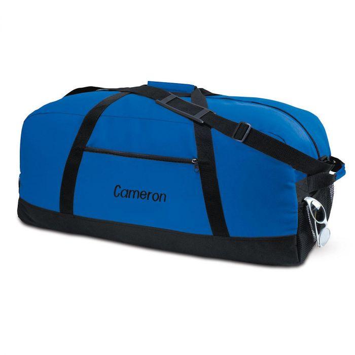 Blue and Black Duffel Bag - Medium