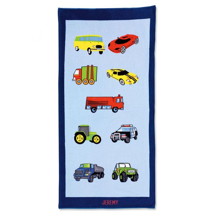 Cars Personalized Towel