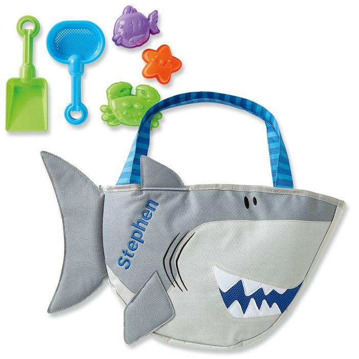 Personalized Shark Beach Tote by Stephen Joseph®