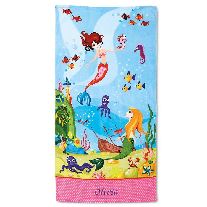 Mermaid Personalized Towel
