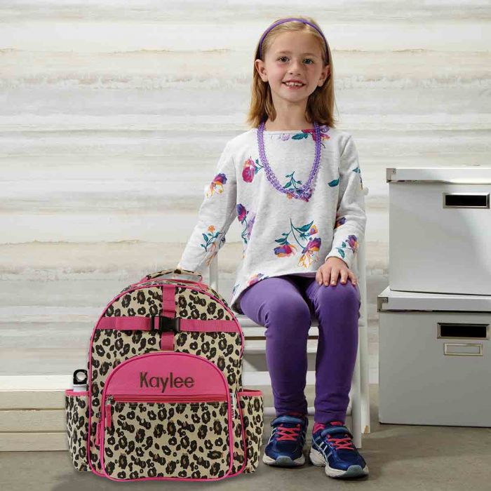 Leopard Spots Personalized Backpack