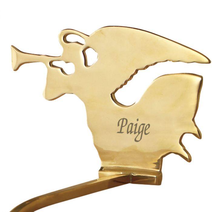 Angel Solid Brass Stocking Holder
