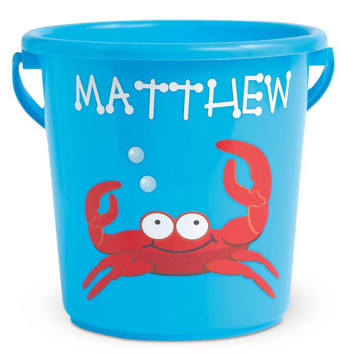 Fun-in-the-Sand Plastic Bucket-Blue-Z814520C