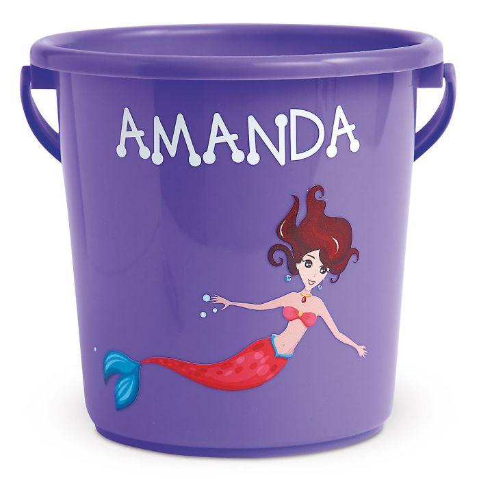Fun-in-the-Sand Plastic Bucket-Purple-Z814520F