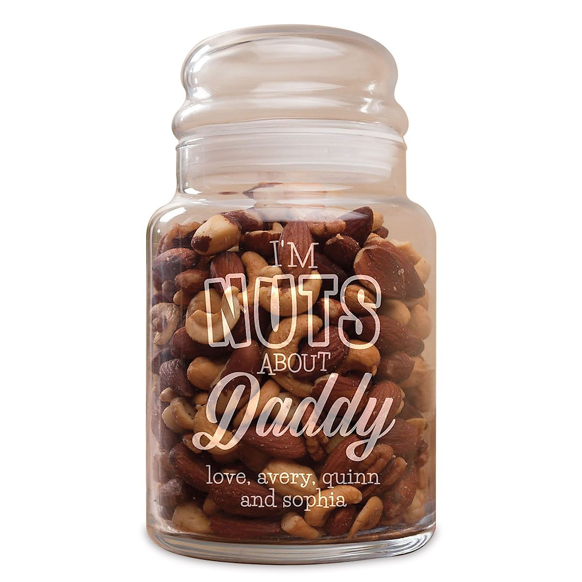 Personalized I'm Nuts About You Jar
