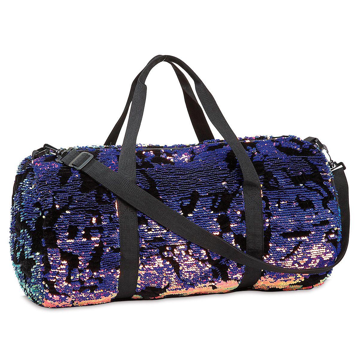 Velvet & Scattered Sequin Duffel & Hip Bag