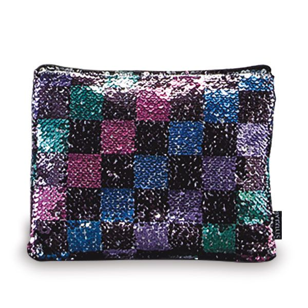Magic Sequin Checker Pouch