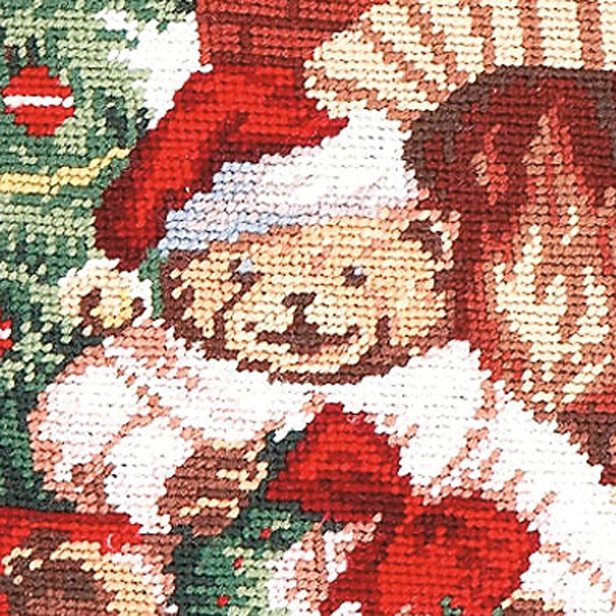 Teddy Bear Heirloom Needlepoint Personalized Christmas Stocking