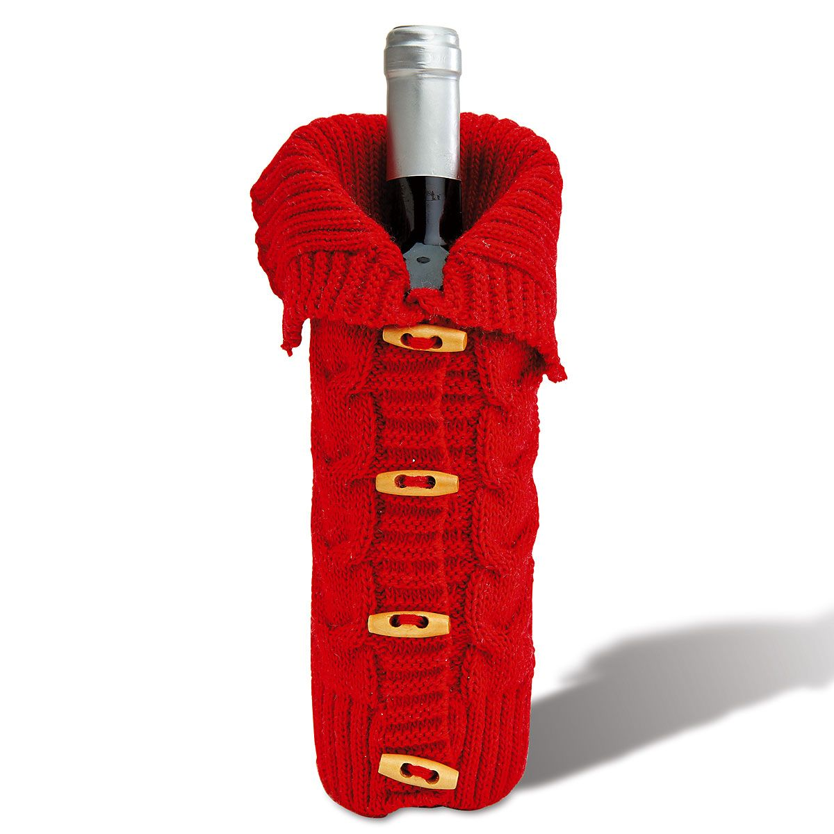 Wine Bottle Bag with Toggle Buttons