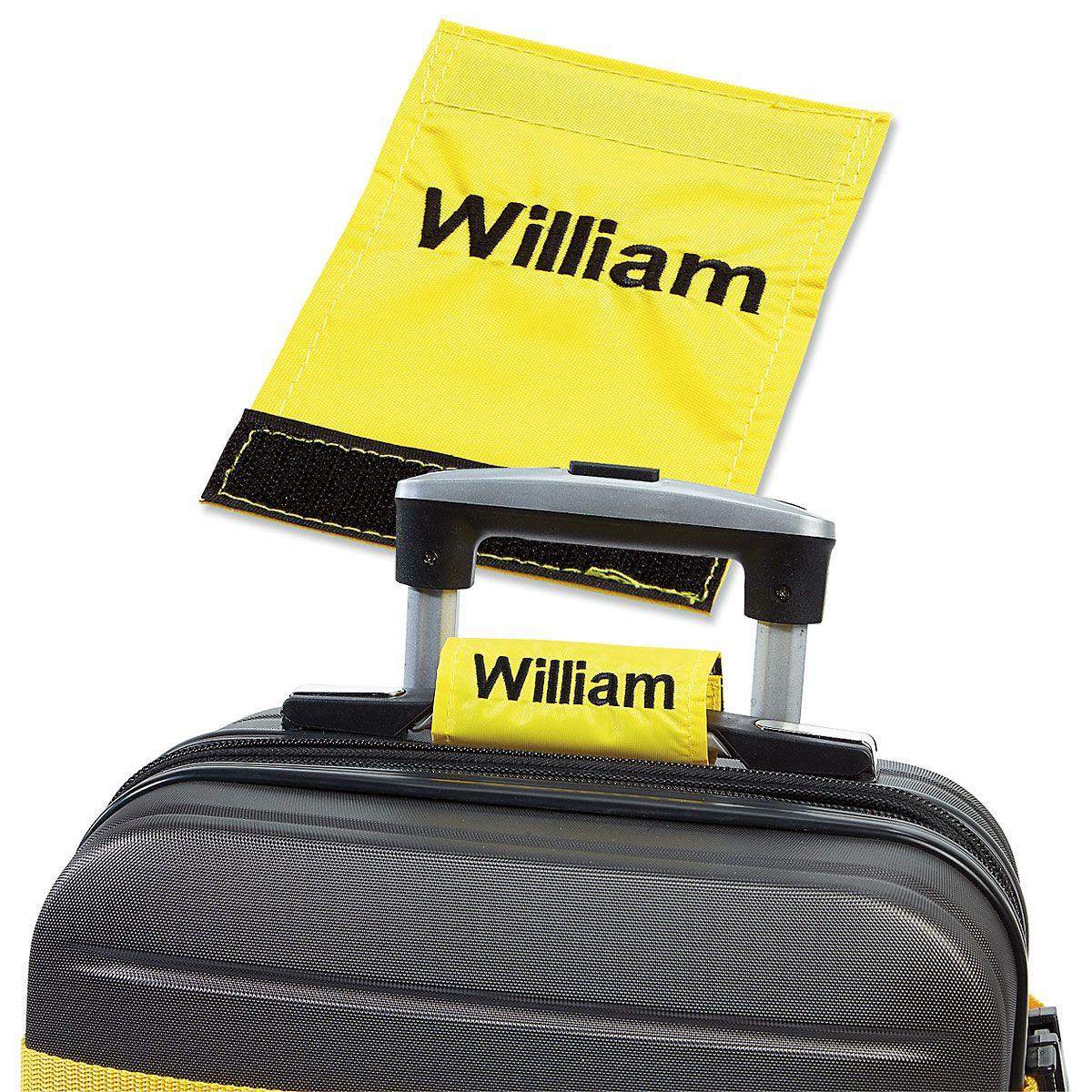 Personalized Luggage Handle Wrap - Yellow