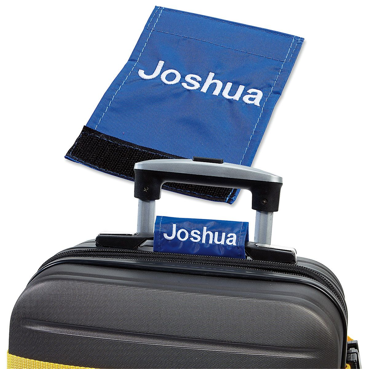 Personalized Luggage Handle Wrap - Blue
