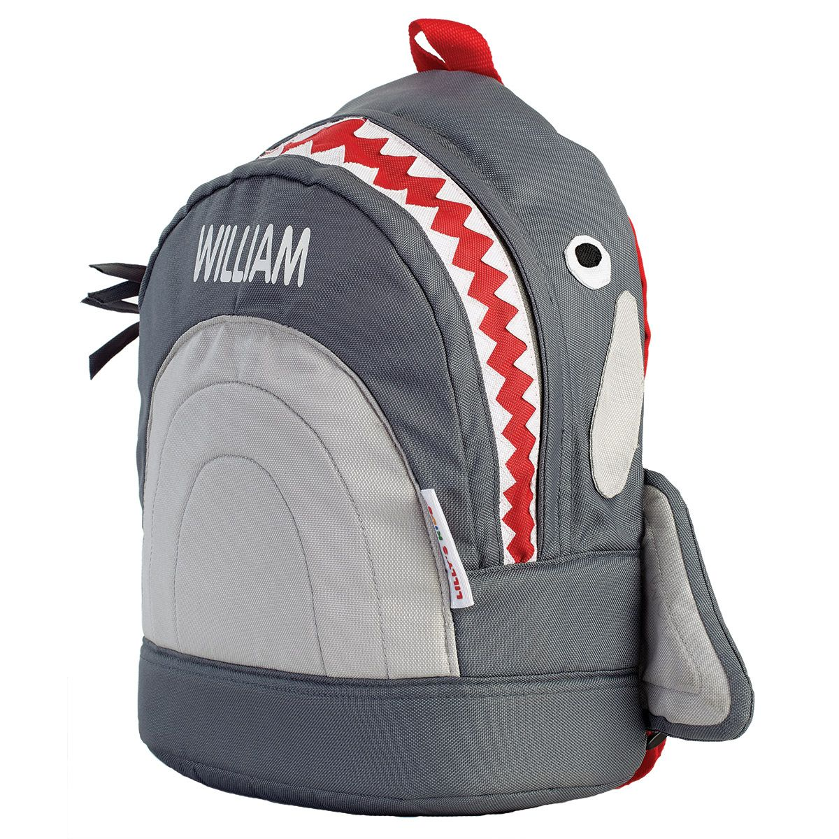 Grey Shark 3-D Personalized Backpack