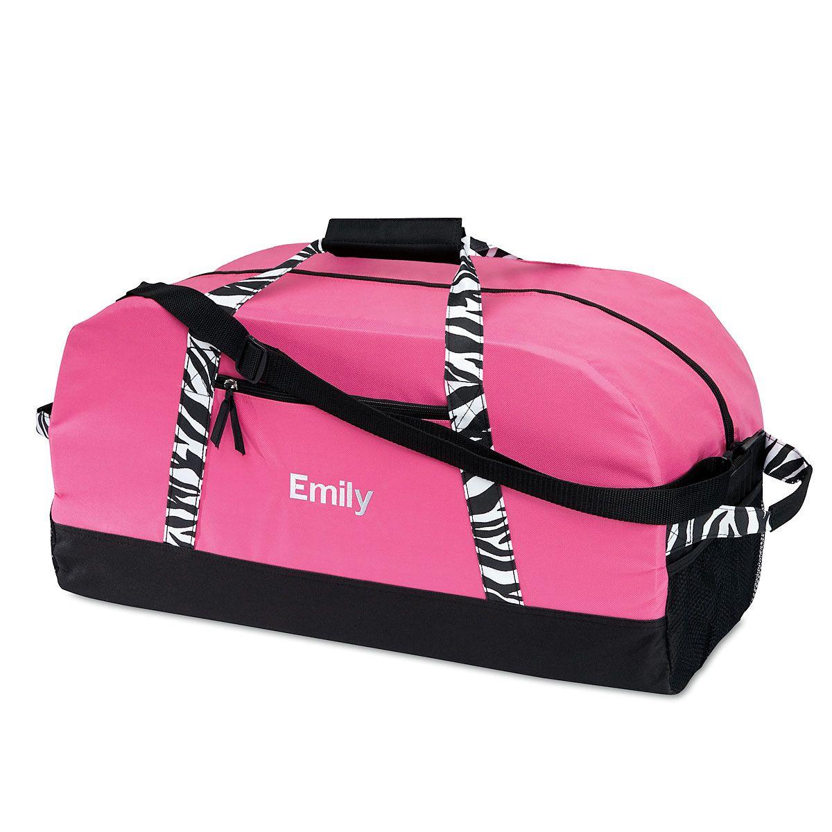 "Zebra Print 23"" Personalized Duffel Bag"