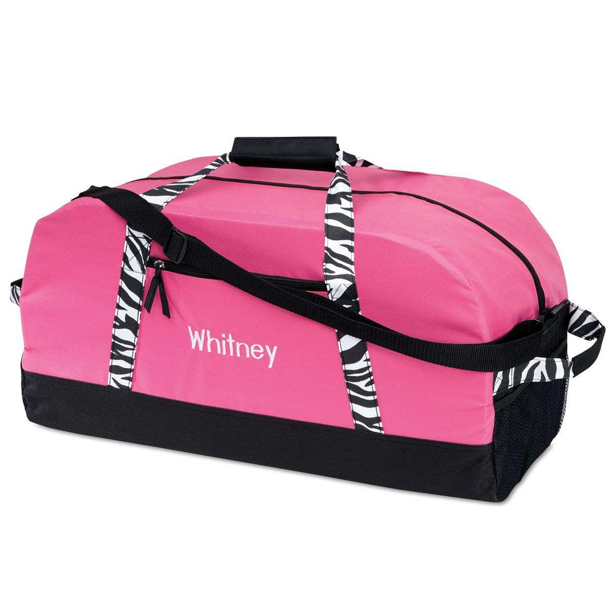 "23"" Zebra Print Duffel Bag"