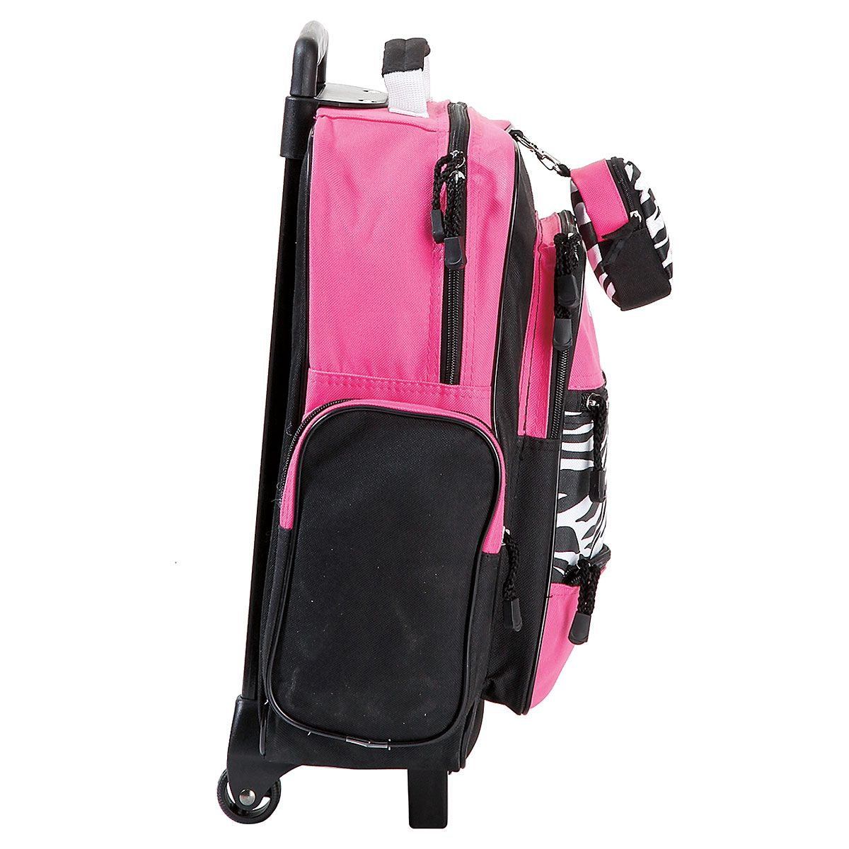 """Pink with Zebra Print 18"""" Personalized Rolling Luggage"""