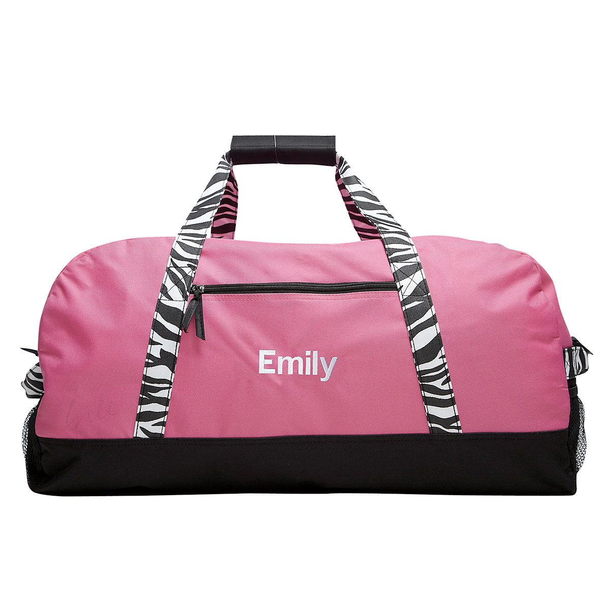"Zebra Print Personalized 30"" Duffel Bag"