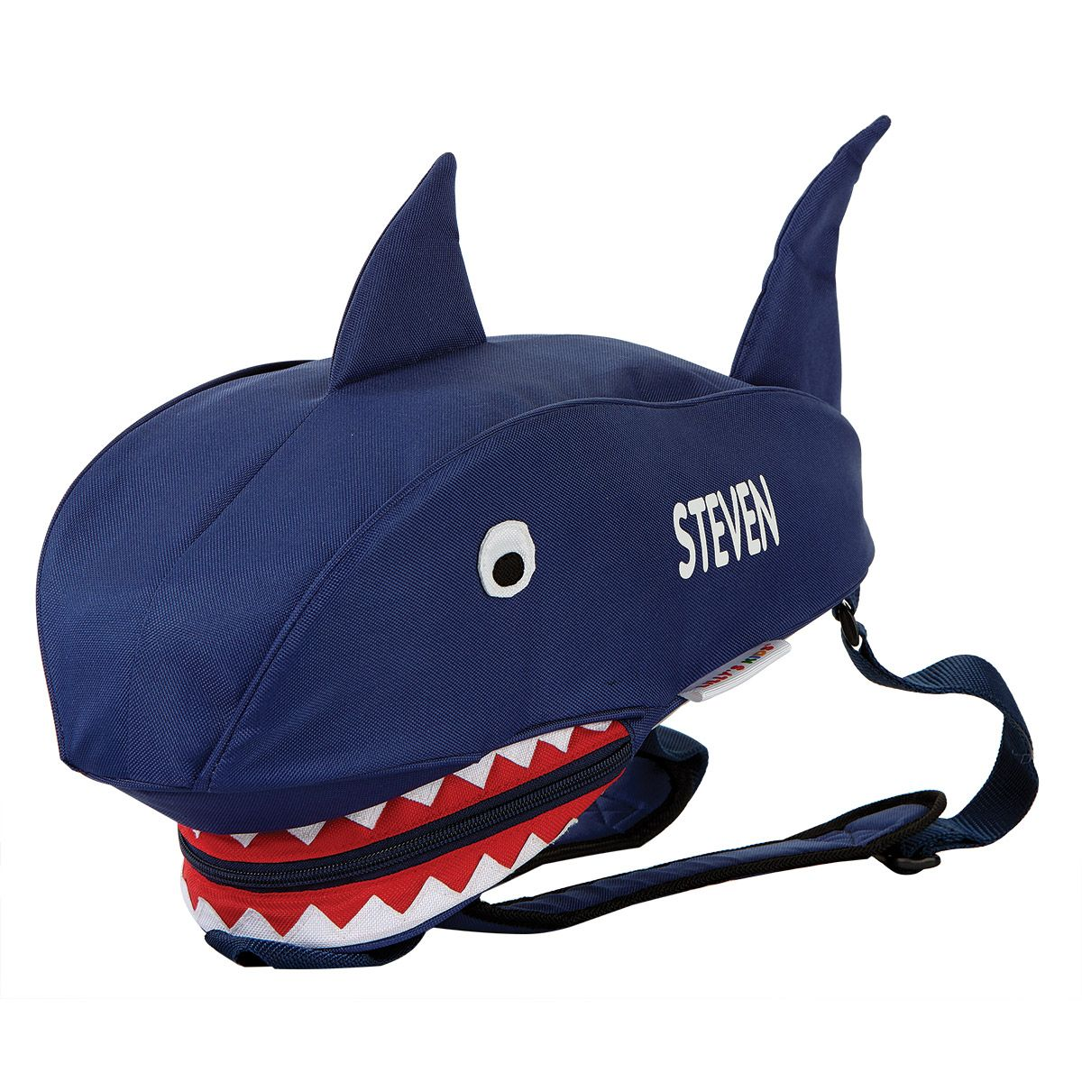 Blue Shark Personalized 3-D Backpack
