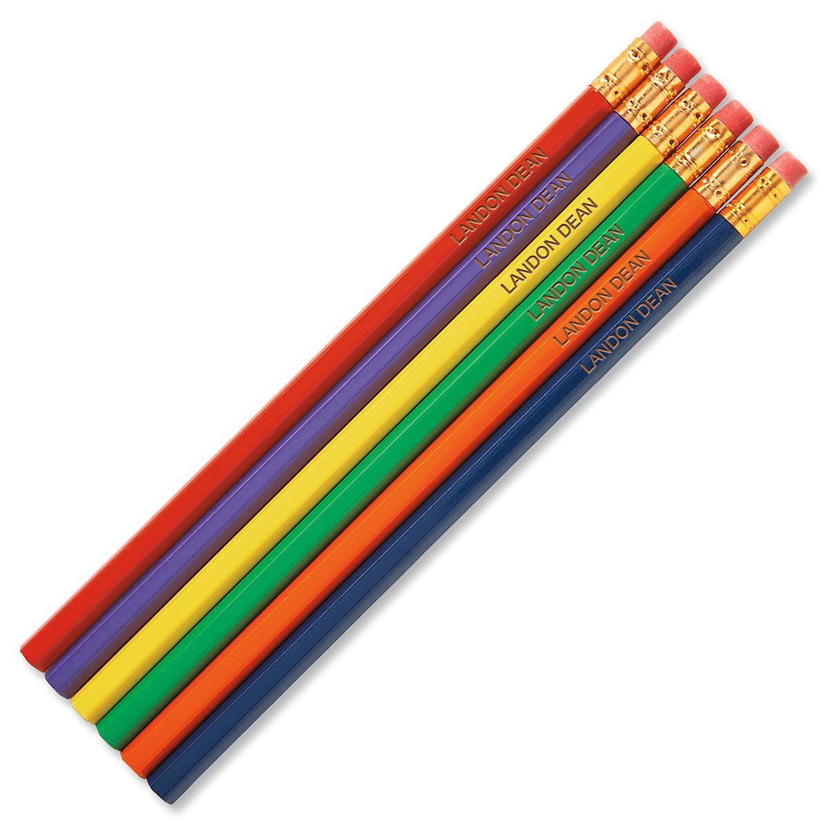 #2 Personalized Hardwood Pencils - Primary