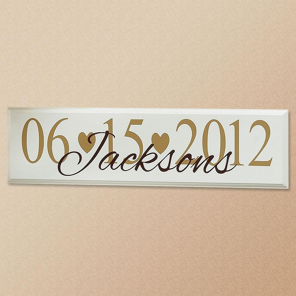 Wedding Date Wooden Plaque