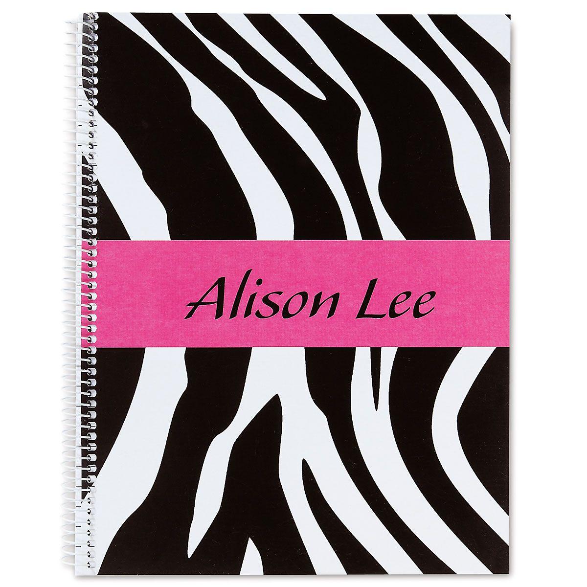 Zebra-Print Notebook-Large-810553