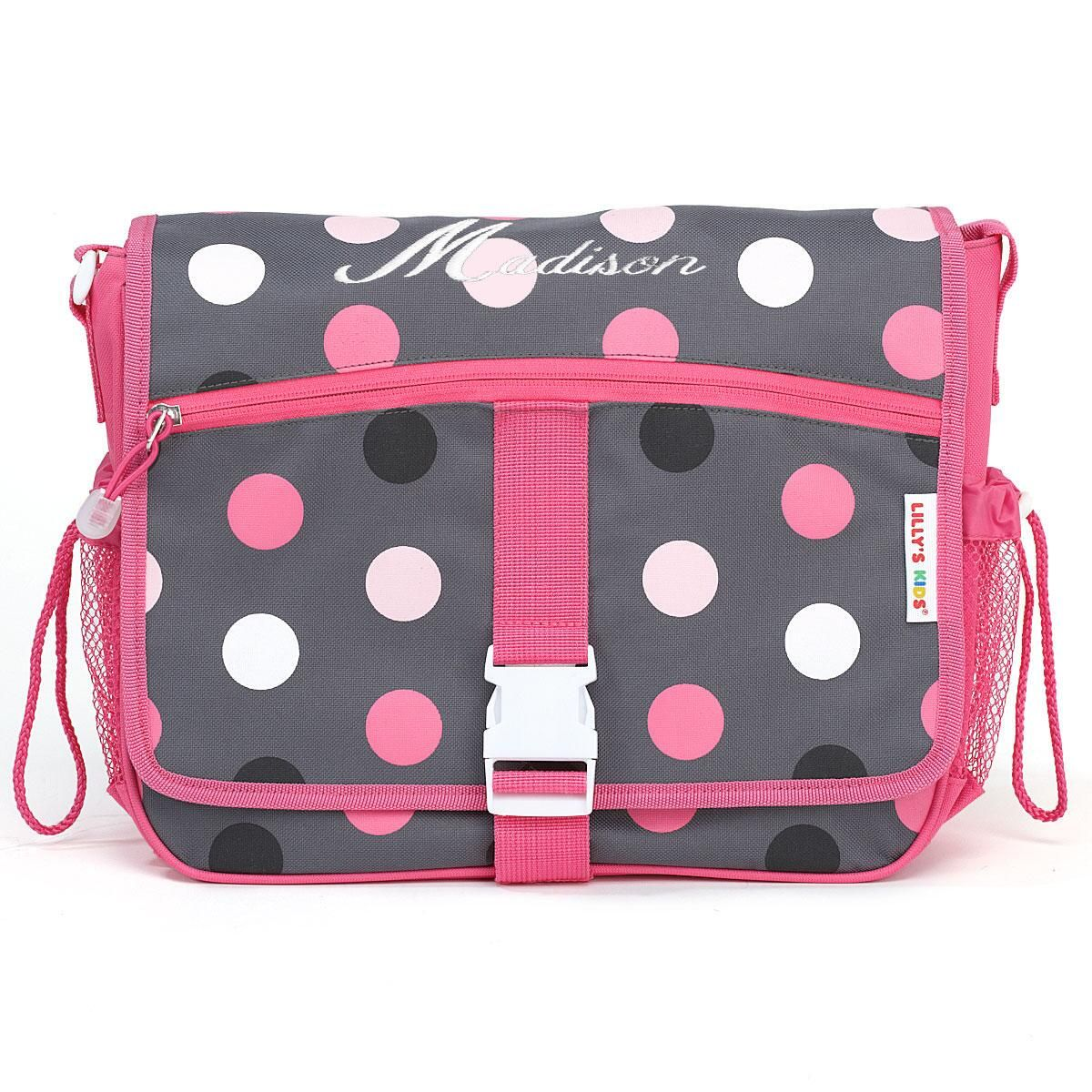 Grey Multi-Dots Messenger Bag