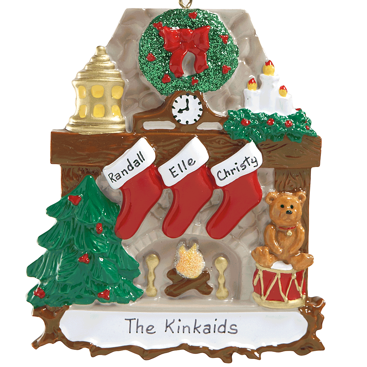 Stockings Ornaments-3 Names-810784A