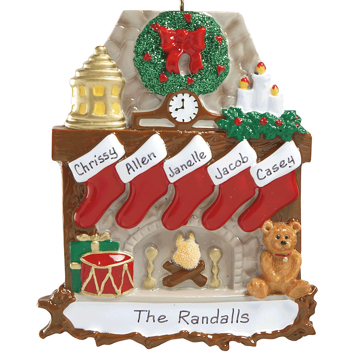 Stockings Ornaments-5 Names-810784C