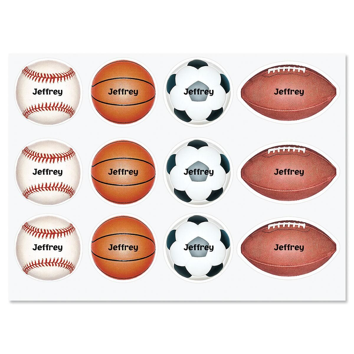 Personalized Sports Stickers
