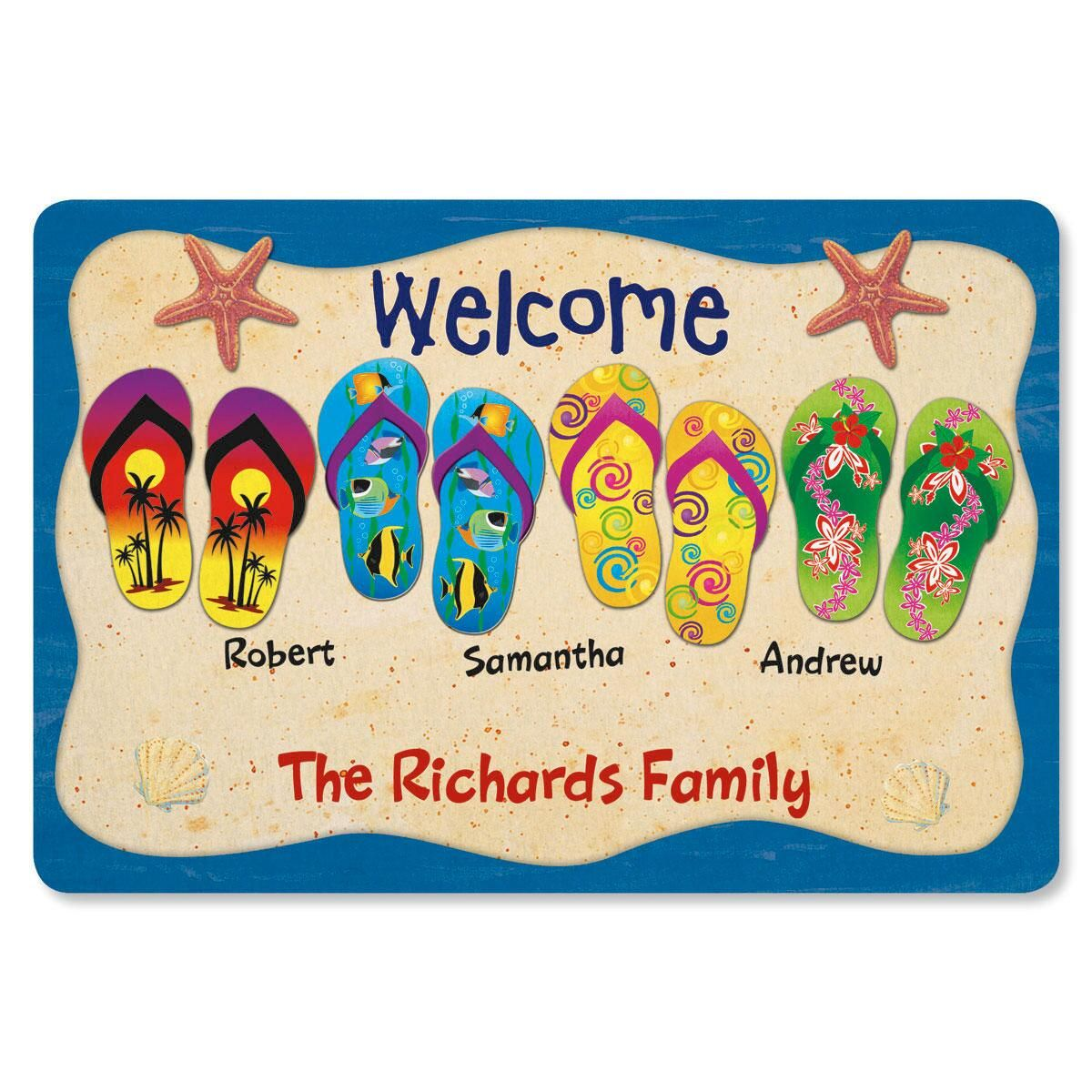 Flip Flop Welcome Doormat