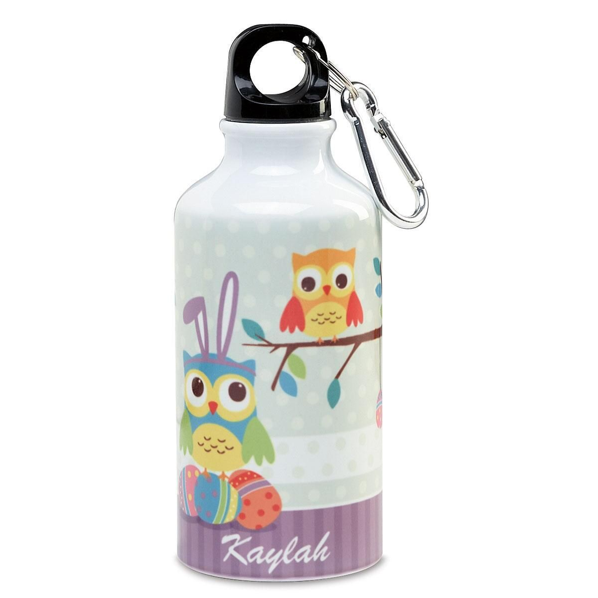 Happy Easter Owl Water Bottle